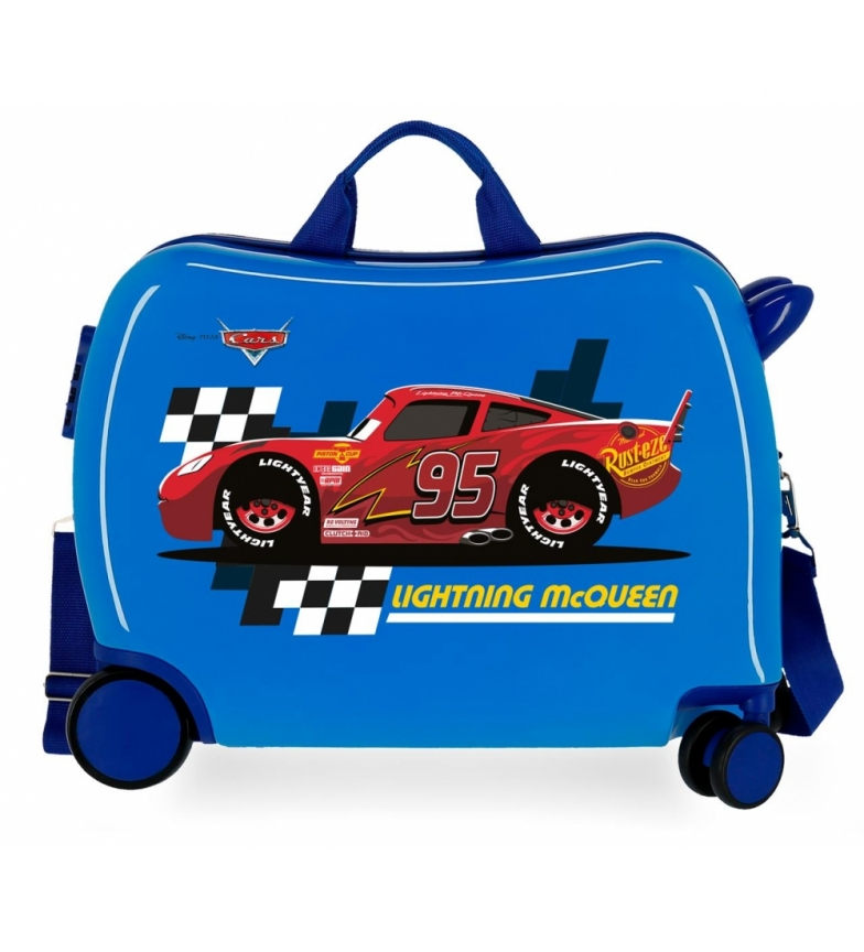 Comprar Cars McQueen Blue -38x50x20cm - 2 multidirectional wheels - Suitcase with runners