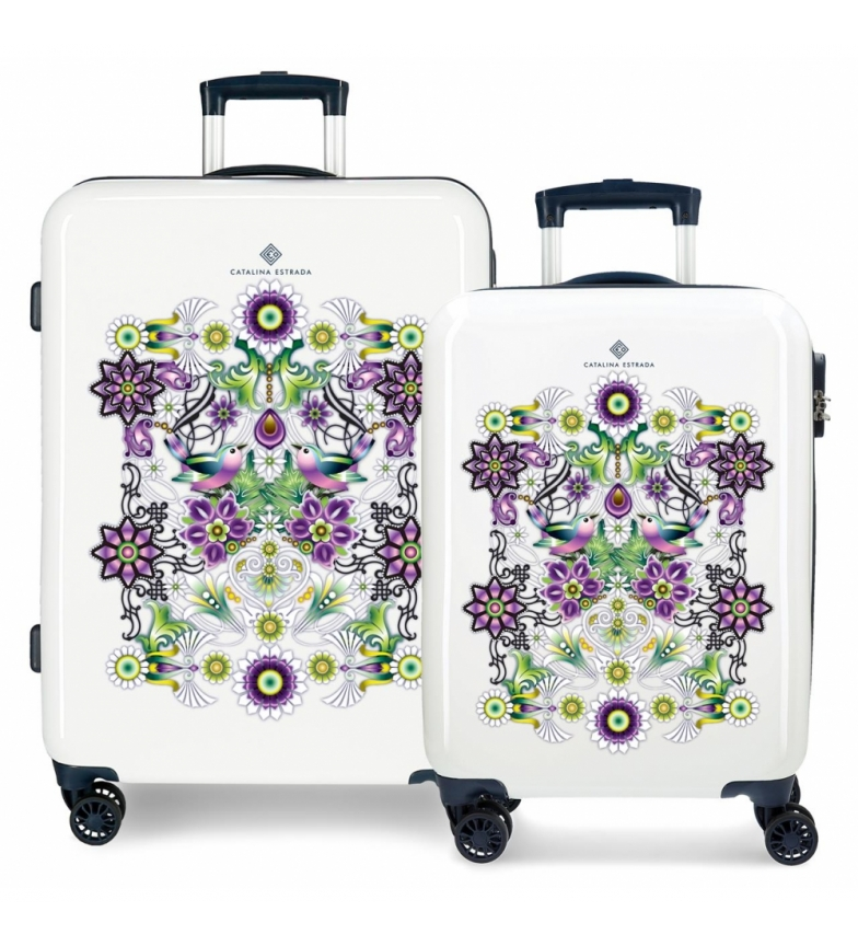 Comprar Catalina Estrada Set of suitcases 34L-70L Rigid fan blue -38x55x20cm / 48x68x26cm