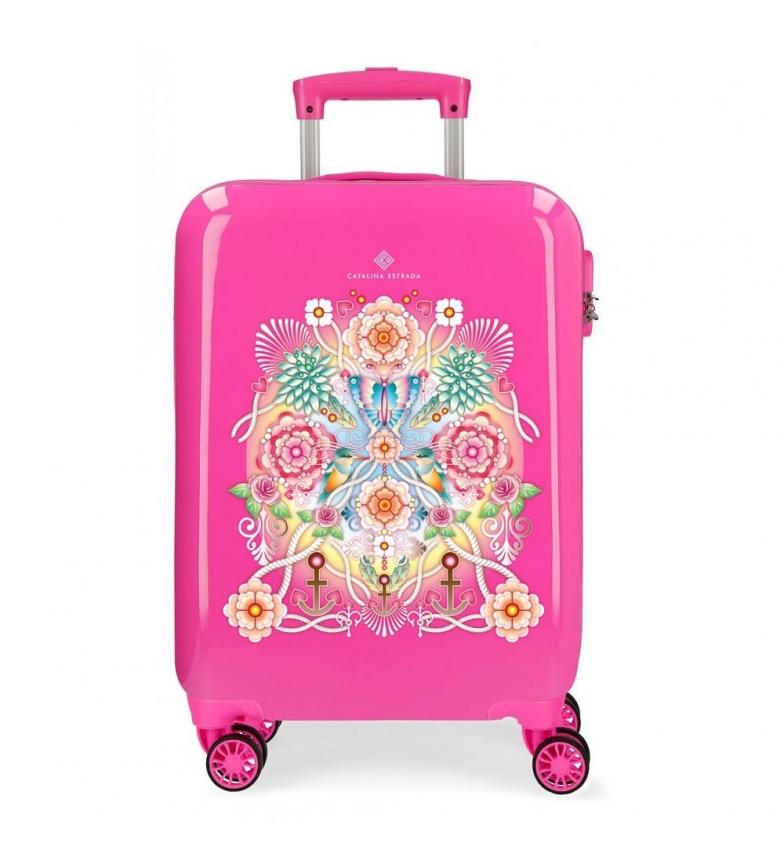 Comprar Catalina Estrada Cabin case Fuchsia rigid fan -38x55x20cm