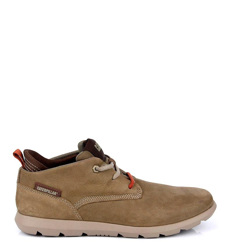 Comprar Caterpillar Roamer beige leather ankle boots