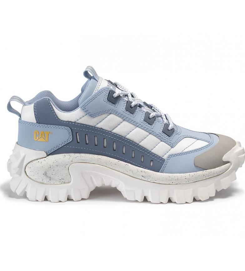 Comprar Caterpillar Tênis de couro azul Intuder, branco