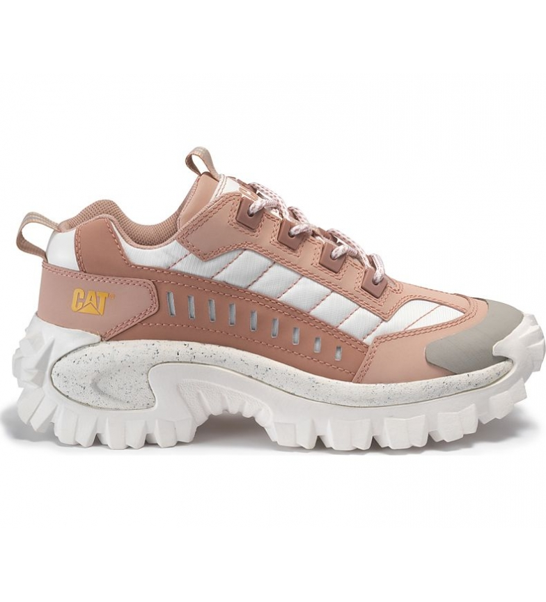 Comprar Caterpillar Intuder leather sneakers pink, white