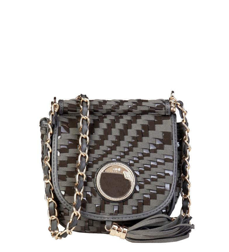 Comprar Cavalli Class Gray braided bag -20x18x10cm-