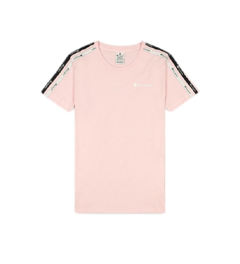 Comprar Champion T-Shirt às riscas com logótipo Short Sleeve Pink