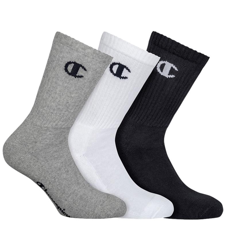 Comprar Champion Pack de 3 pares de calcetines altos One Color gris, negro, blanco
