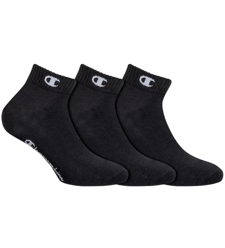 Comprar Champion Confezione da 3 paia di calze alla caviglia Un colore nero