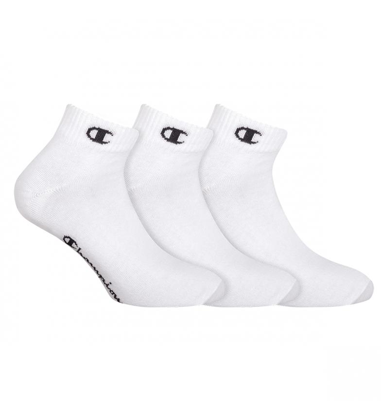 Comprar Champion Pacote de 3 pares de meias de tornozelo One Colour White