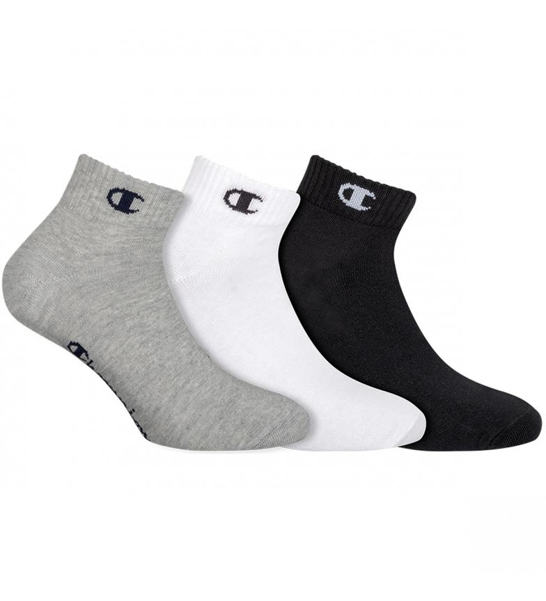 Comprar Champion Confezione da 3 paia di calze alla caviglia Un colore grigio, nero, bianco
