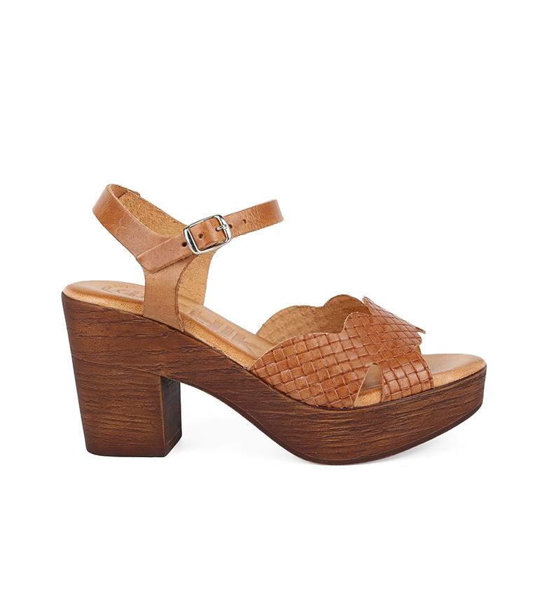 Comprar Chika10 Sandalias de piel Alois 2026 nogal -Altura tacón: 8cm-