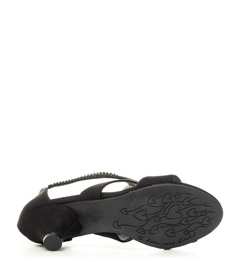 Chika10 Sandalias Amira 04 negro Altura tacón: 6cm