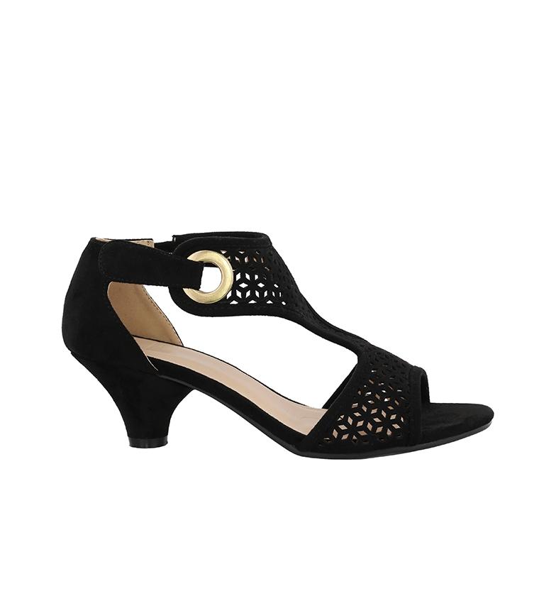Comprar Chika10 Sandali Amira 06 nero - altezza tacco: 4cm