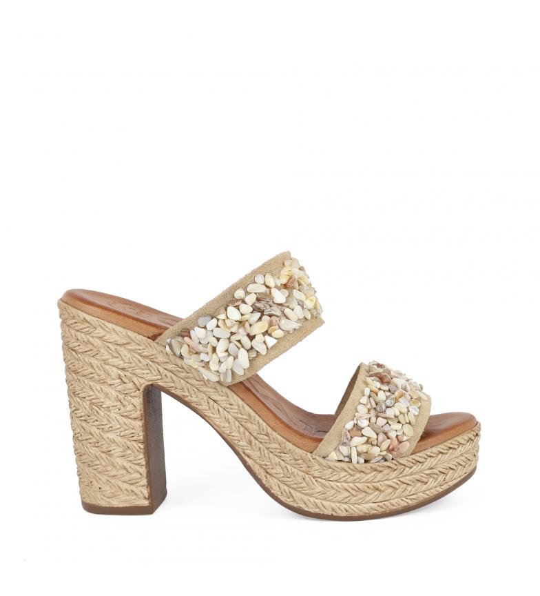 Comprar Chika10 Sandalias de piel Bevel 05 arena  -altura tacón: 11cm-