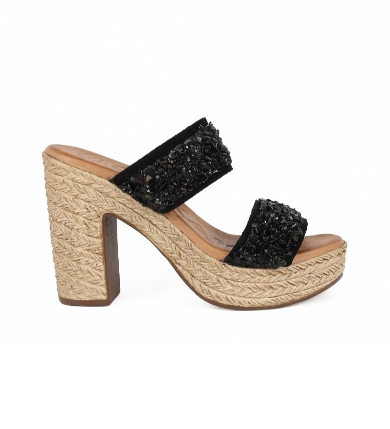 Comprar Chika10 Sandalias de piel Bevel 05 negro  -altura tacón: 11cm-