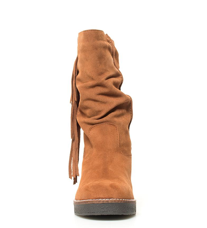 piel Chika10 5cm Altura 6 Aida marrón de br Botas tacón br 03 AAwEpfq