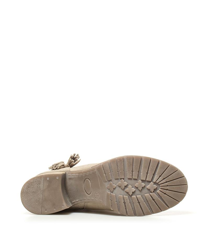 Chika10 Botas de piel Indira 01 beige Altura tacón: 5,5cm