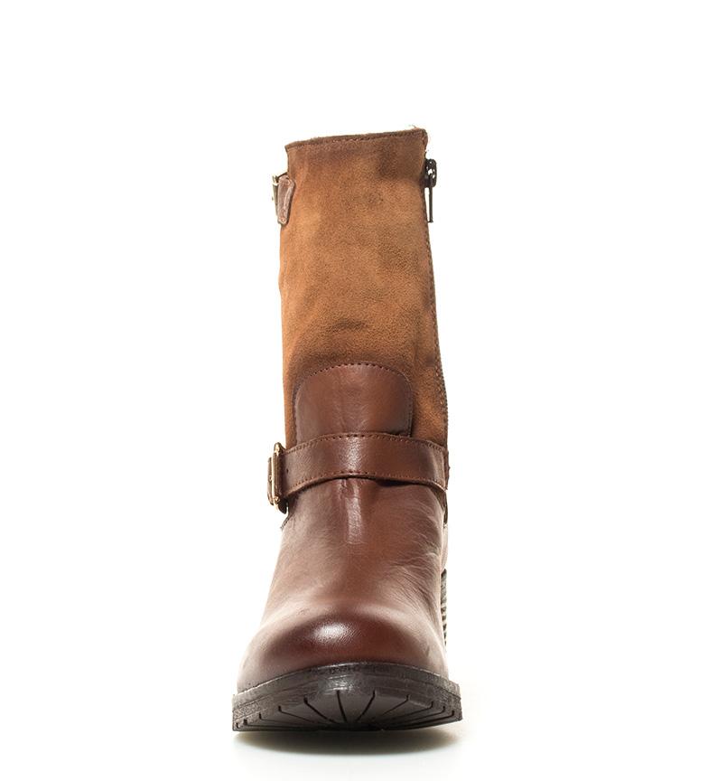 br br piel Lisa Altura Chika10 tacón de 5cm marrón 5 Botas 05 YqYaw0x