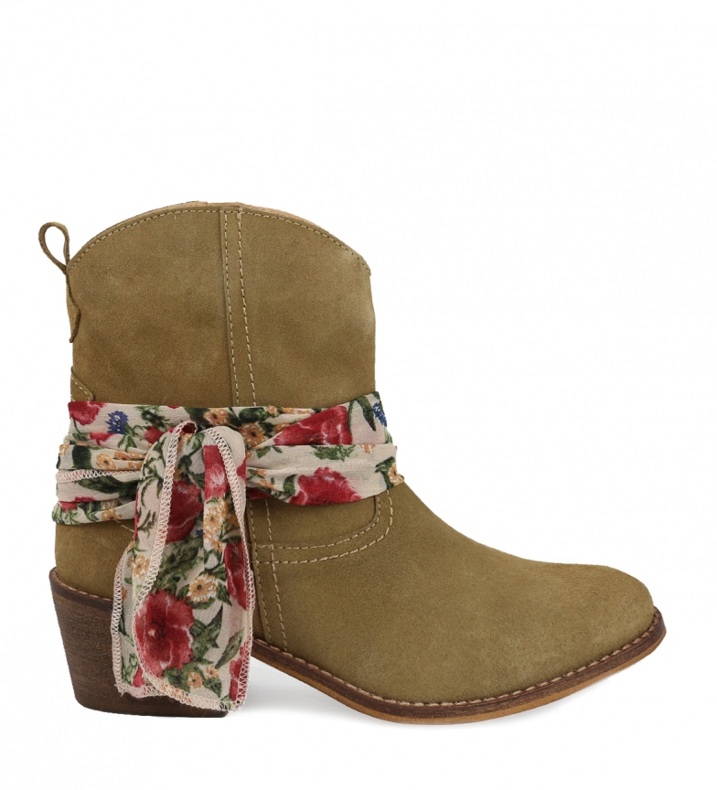 Comprar Chika10 Leather boots Aurora 02 beige -Heel height: 5cm
