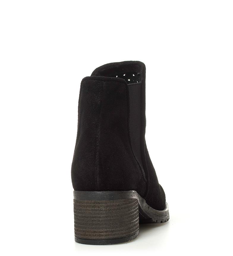 tacón Altura 5 negro 5cm de 02 Indira Botines piel Chika10 vwq0C1