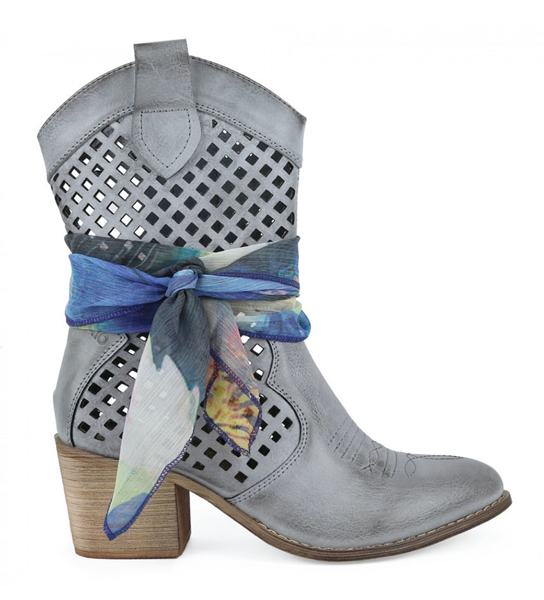 Comprar Chika10 Lily 06 light blue ankle boots -heel height: 6cm