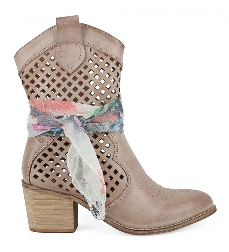 Comprar Chika10 Lily 06 nude ankle boots -Heel height: 6cm