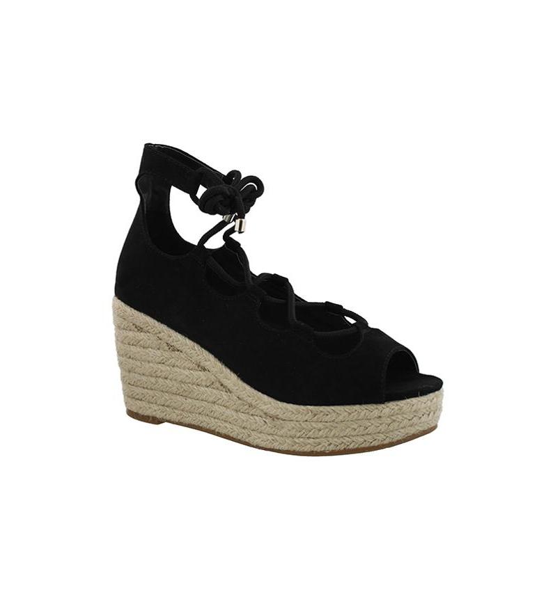02 cuña Sandalias negro Chika10 Chika10 Altura 9cm Sandalias Ariadna xIw06