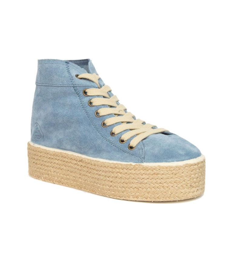 Comprar Chika10 Puka 10 light blue high-top sneakers  - Platform height: 4.5cm -