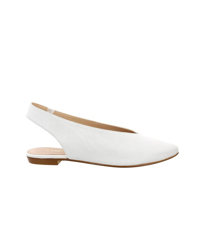 Comprar Chika10 Tina 01 white leather shoe
