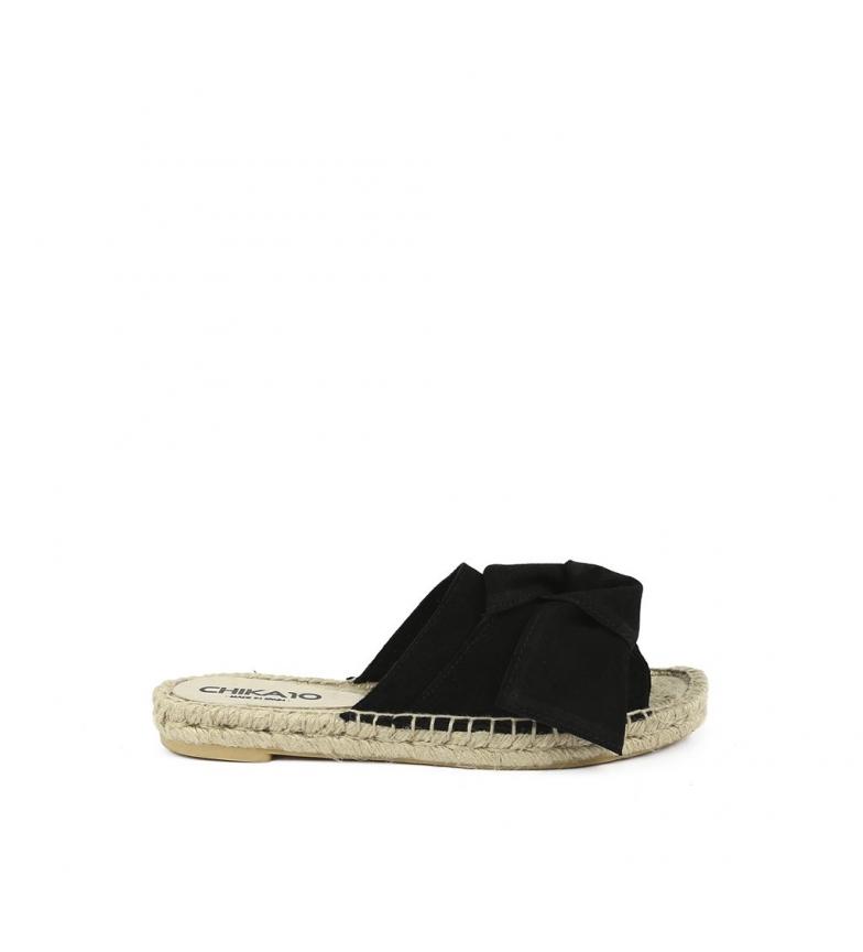 de Bio Chika10 piel Bio de Chika10 Sandalias 01 Sandalias negro Mediterráneo piel wwH8xqY