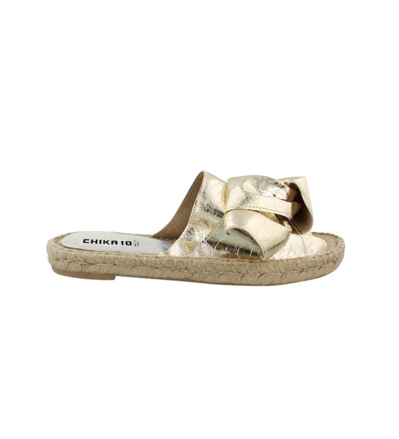 Comprar Chika10 Bio Mediterranean leather sandals 01 gold