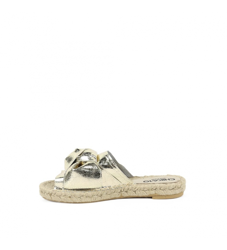 01 Bio Mediterráneo Sandalias piel oro Chika10 de qPwFXS7n78