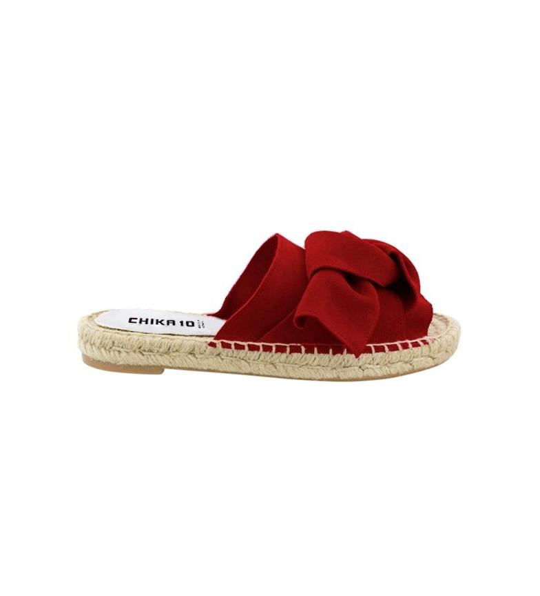 01 Chika10 de piel Sandalias Chika10 piel de rojo Mediterráneo Bio Sandalias qawTxHt