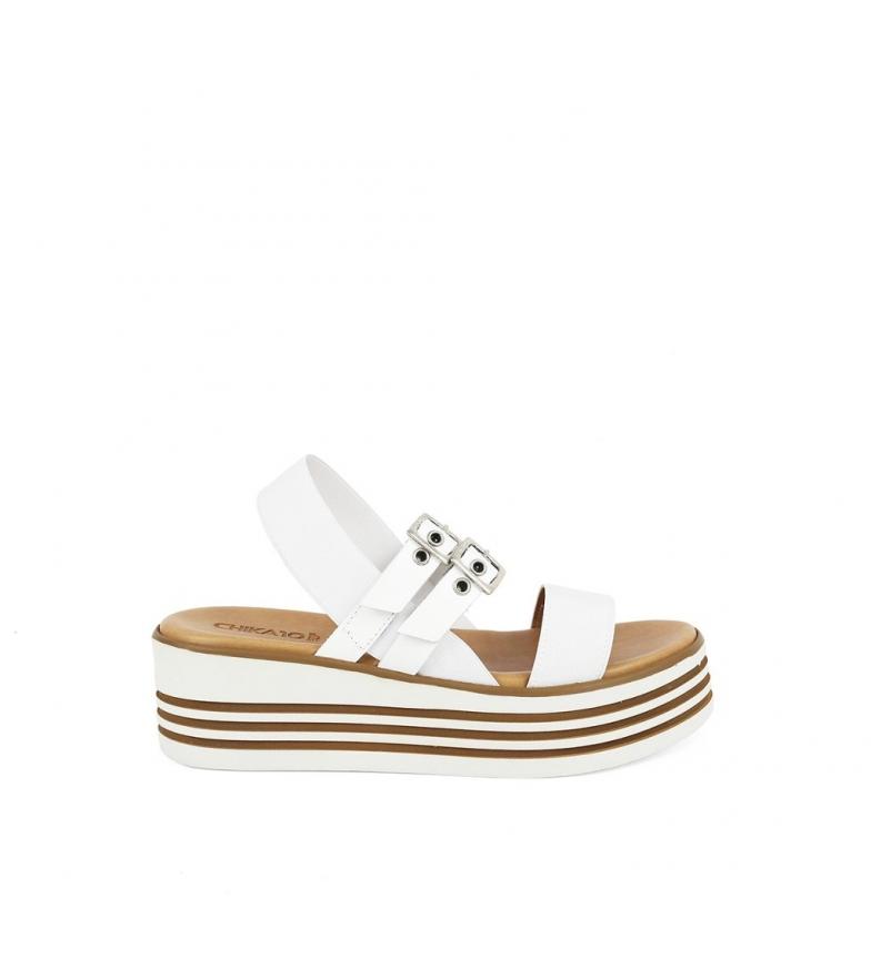 02 blanco Sandalias Firenze piel de Chika10 xqInZBwx