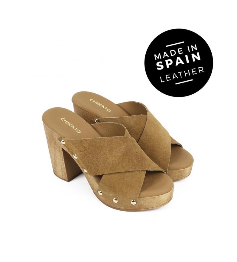 Chika10 Sandalias de piel Atenea 01 cuero Altura tacón: 10cm