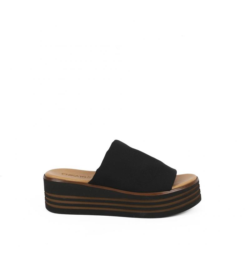 Chika10 Sandalias de piel Firenze 01 negro
