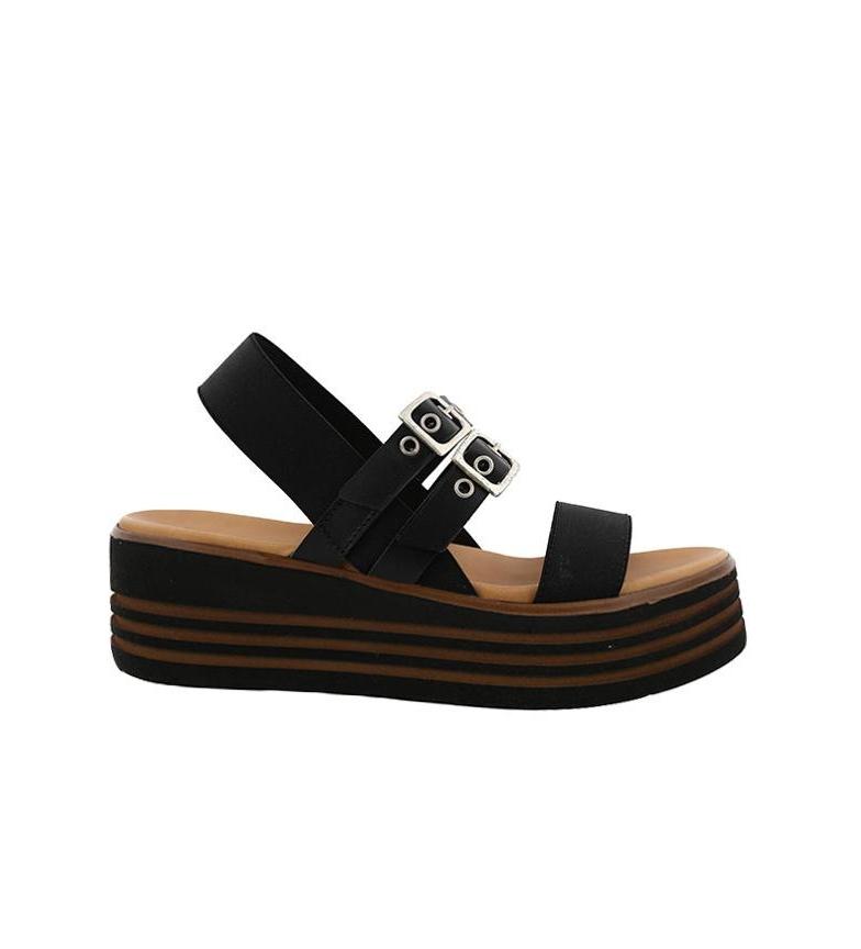 de Chika10 02 Chika10 Sandalias piel Sandalias negro de Firenze qxIwUE