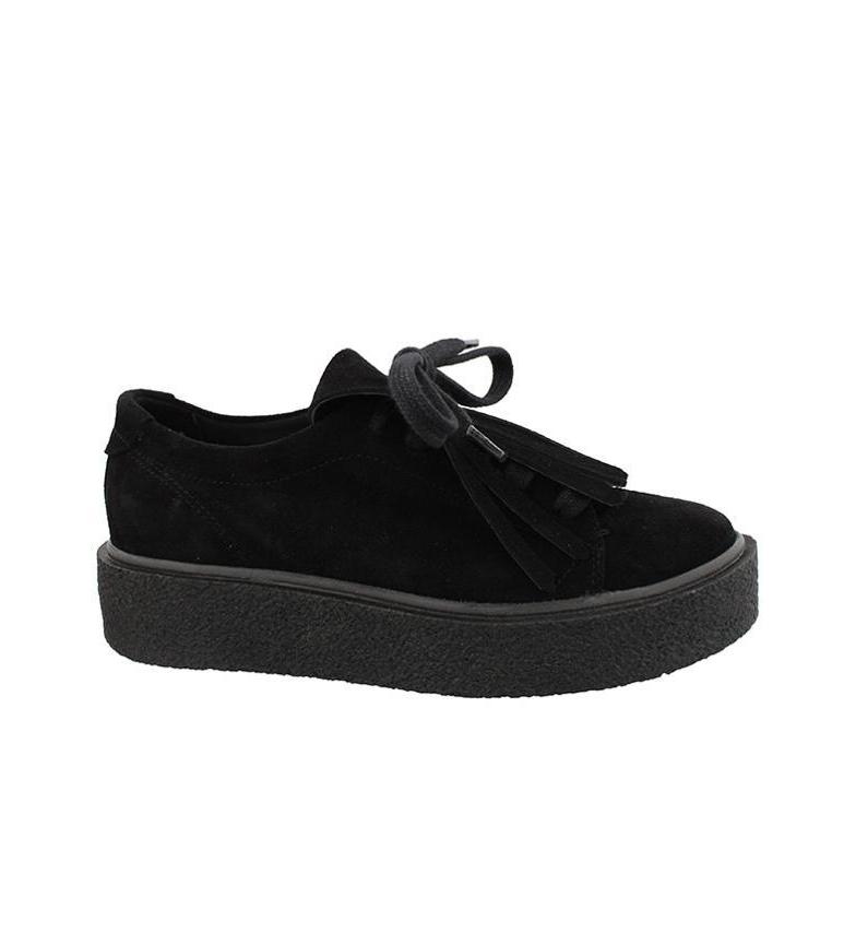 Comprar Chika10 Jane 01 black leather sneakers  - Platform height: 3cm -