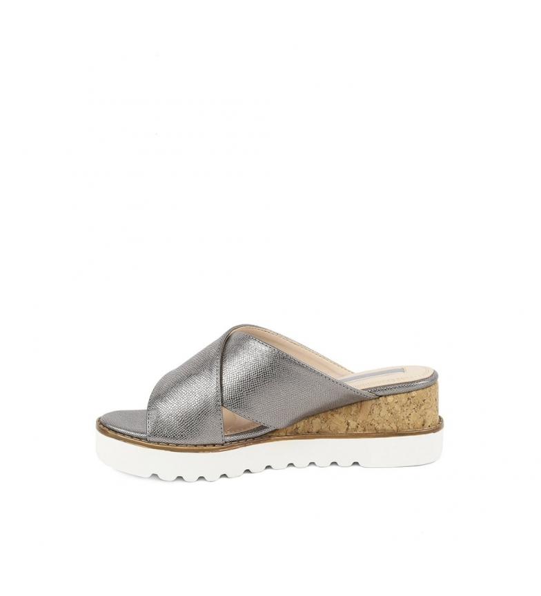 6cm plata 03 Chika10 Sandalias cuña Altura Aitana wYpEggPtq