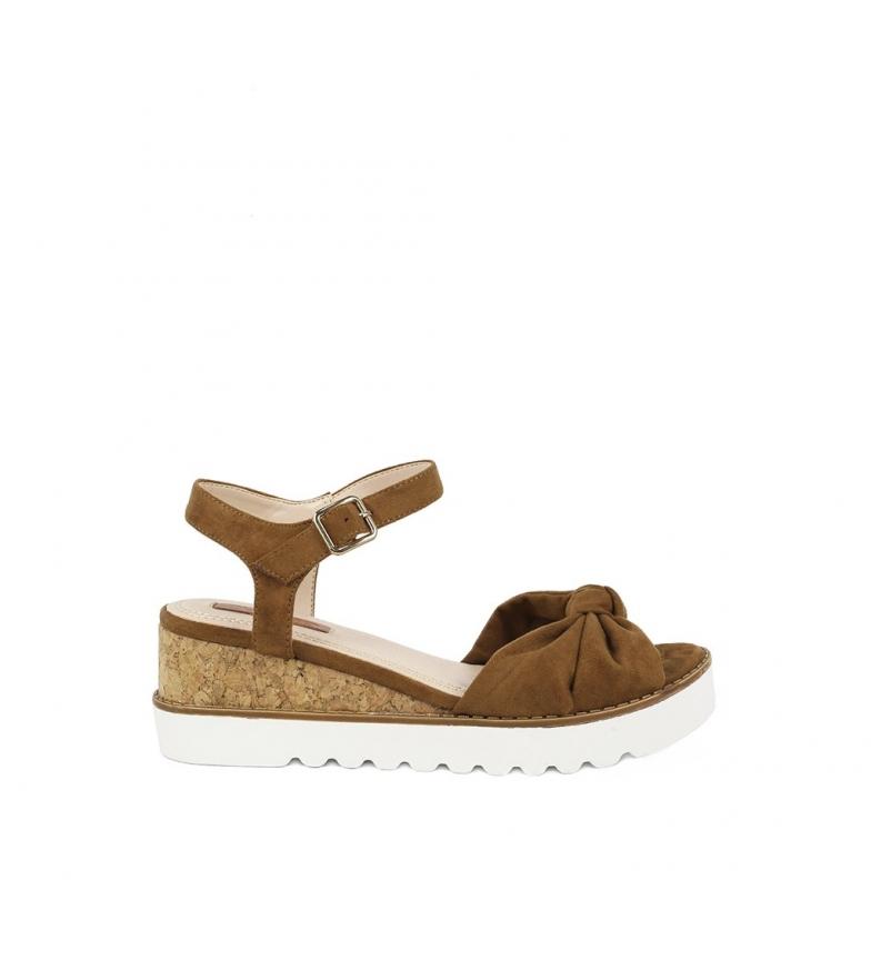 6cm Sandalias cuero Altura Aitana cuña 02 Chika10 8qaBZw