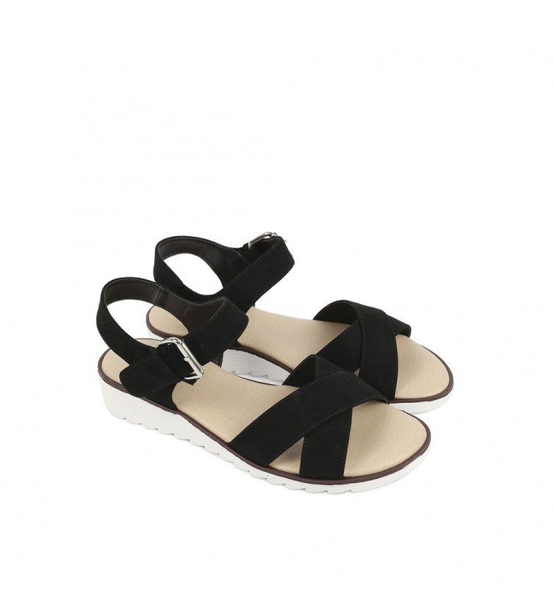 cuña Chika10 Sandalias negro 3cm Altura Dulce Chika10 Sandalias 04 w057q7