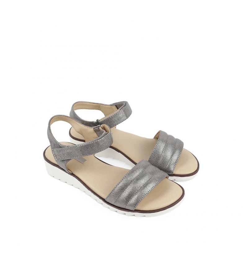 Sandalias 03 cuña 3cm Altura Dulce Chika10 plata 4dxwnvAq4T