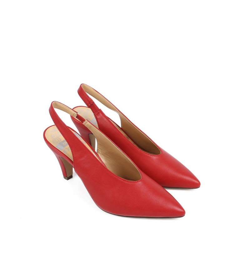 Chika10 Zapatos Salero 01 rojo