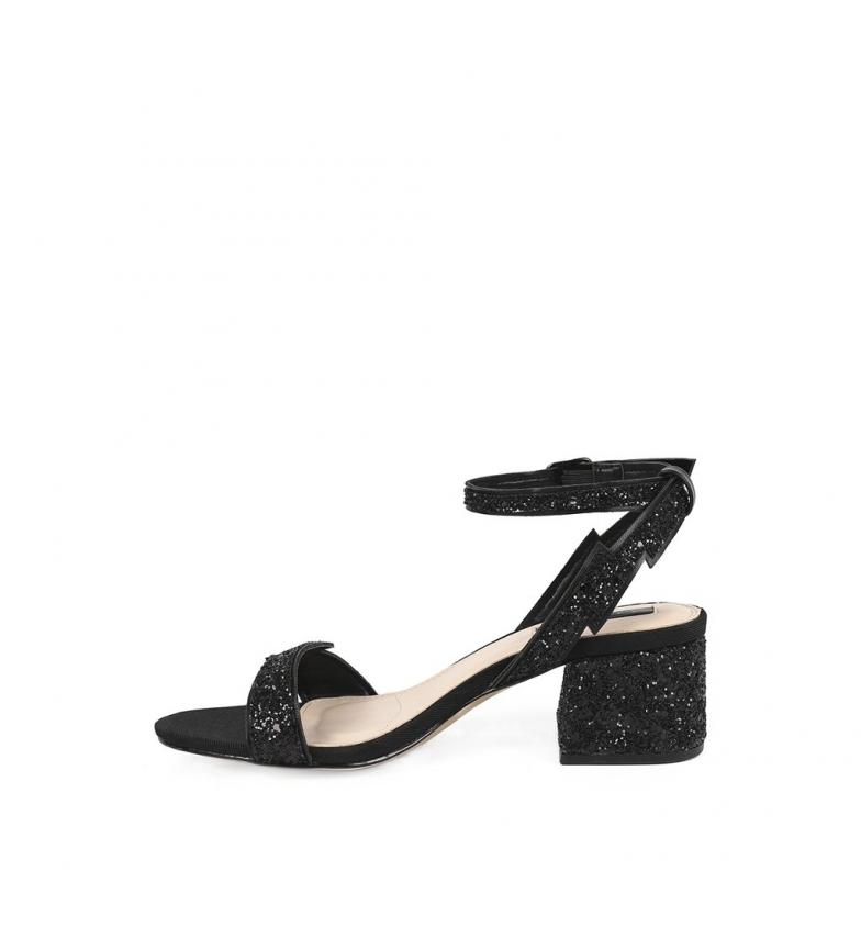 tacón Chika10 04 Sandalias negro 6cm Altura Anya UXUrq