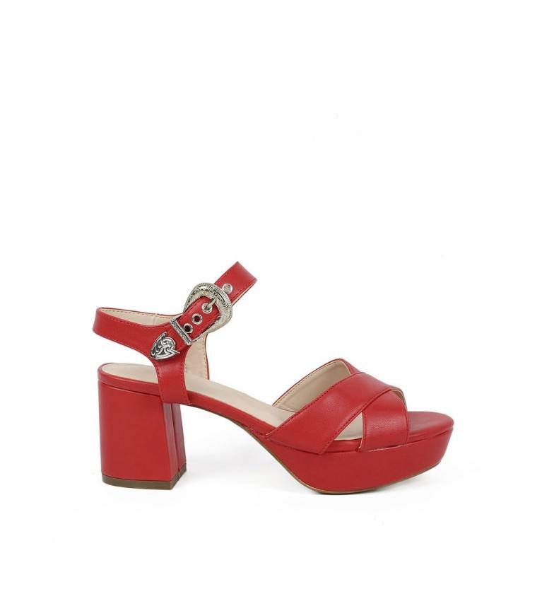 Sandalias rojo 09 Cloe Chika10 New 6AOOX
