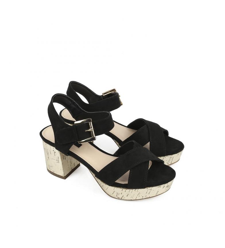Chika10 Cloe negro 06 Sandalias New FOxwaH