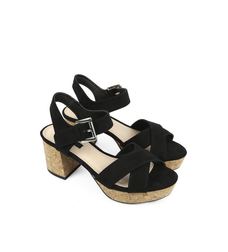 tacón 7 Altura 5cm Sandalias negro Chika10 Cloe 07 New TY0H8wq6