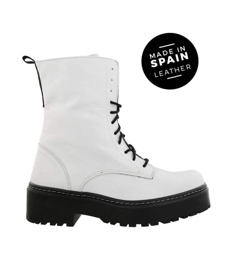 Comprar Chika10 Bottes en cuir Rocker 01 blanc - Hauteur de plate-forme : 4cm-