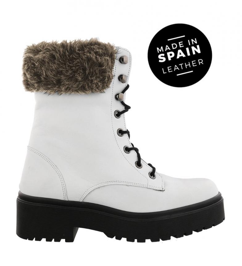 Comprar Chika10 Botas de piel Rocker 02 blanco -Altura plataforma: 4cm-