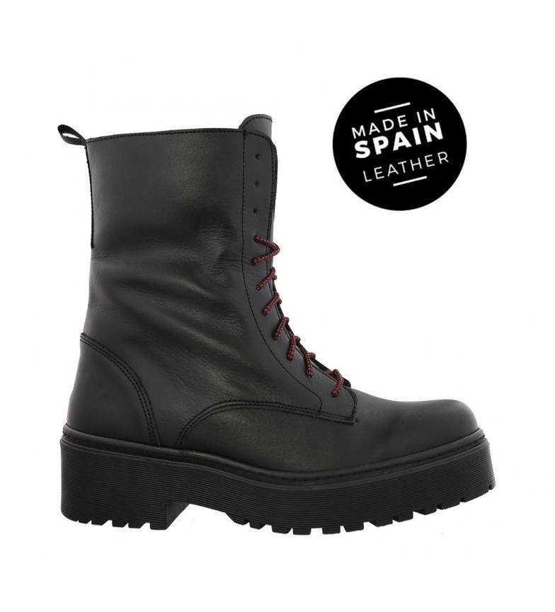 Comprar Chika10 Leather boots Rocker 01 black -High platform: 4cm-