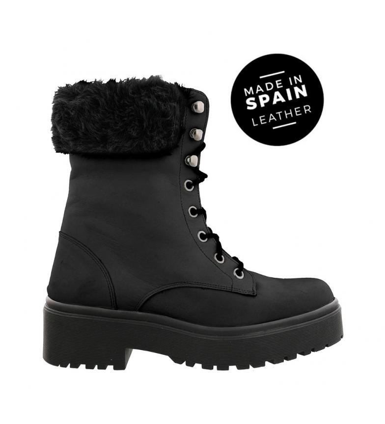 Comprar  Stivali in pelle Rocker 02 nero -Piattaforma alta: 4 cm.