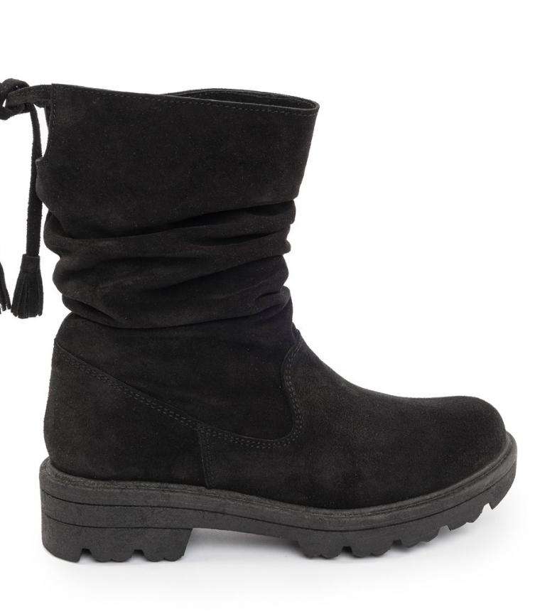 Comprar Chika10 America 04 stivali in pelle nera
